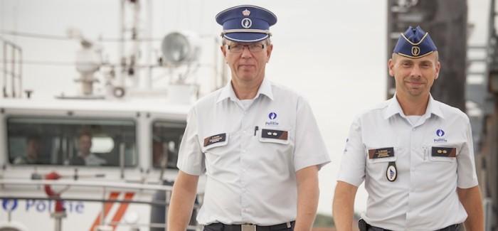 De boot op met de Scheepvaartpolitie